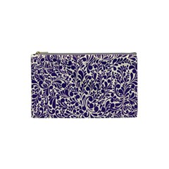 Purple Pattern Cosmetic Bag (small)  by Valentinaart