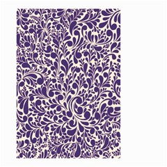 Purple Pattern Small Garden Flag (two Sides) by Valentinaart