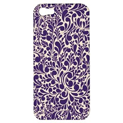 Purple Pattern Apple Iphone 5 Hardshell Case by Valentinaart
