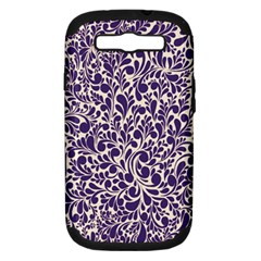 Purple Pattern Samsung Galaxy S Iii Hardshell Case (pc+silicone) by Valentinaart