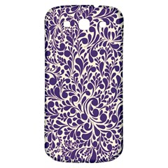 Purple Pattern Samsung Galaxy S3 S Iii Classic Hardshell Back Case by Valentinaart