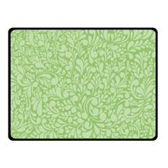 Green Pattern Fleece Blanket (small) by Valentinaart