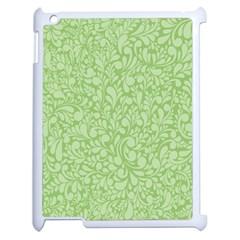 Green Pattern Apple Ipad 2 Case (white) by Valentinaart