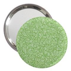 Green Pattern 3  Handbag Mirrors by Valentinaart