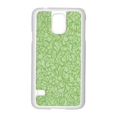 Green Pattern Samsung Galaxy S5 Case (white) by Valentinaart