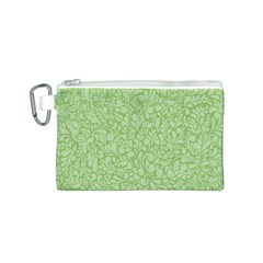 Green Pattern Canvas Cosmetic Bag (s) by Valentinaart