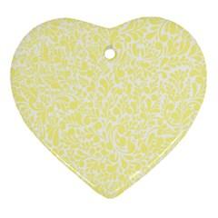 Yellow Pattern Ornament (heart) by Valentinaart