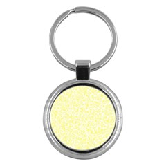 Yellow Pattern Key Chains (round)  by Valentinaart
