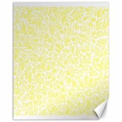 Yellow Pattern Canvas 11  X 14   by Valentinaart