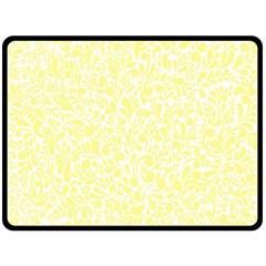 Yellow Pattern Fleece Blanket (large)  by Valentinaart