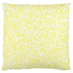 Yellow Pattern Large Cushion Case (one Side) by Valentinaart