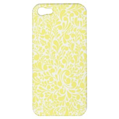 Yellow Pattern Apple Iphone 5 Hardshell Case by Valentinaart