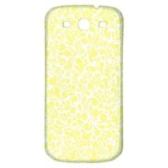 Yellow Pattern Samsung Galaxy S3 S Iii Classic Hardshell Back Case by Valentinaart