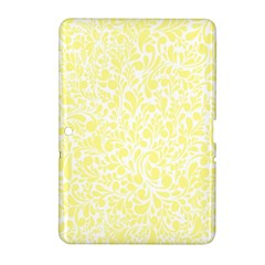 Yellow Pattern Samsung Galaxy Tab 2 (10 1 ) P5100 Hardshell Case  by Valentinaart