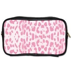 Leopard Pink Pattern Toiletries Bags 2 Side by Valentinaart