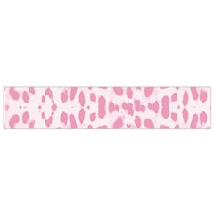 Leopard Pink Pattern Flano Scarf (small) by Valentinaart