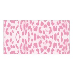 Leopard Pink Pattern Satin Shawl by Valentinaart