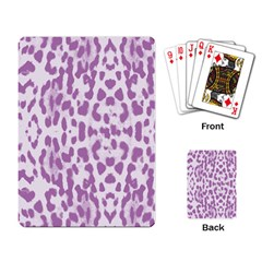 Purple Leopard Pattern Playing Card by Valentinaart