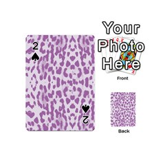 Purple Leopard Pattern Playing Cards 54 (mini)  by Valentinaart