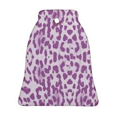 Purple Leopard Pattern Ornament (bell) by Valentinaart