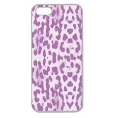 Purple Leopard Pattern Apple Seamless Iphone 5 Case (clear) by Valentinaart
