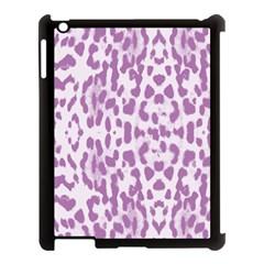 Purple Leopard Pattern Apple Ipad 3/4 Case (black) by Valentinaart