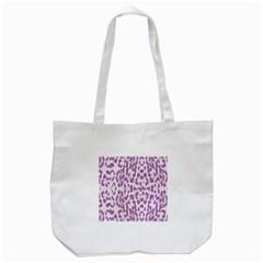 Purple Leopard Pattern Tote Bag (white) by Valentinaart