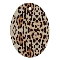 Leopard Pattern Ornament (oval) by Valentinaart