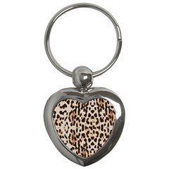Leopard Pattern Key Chains (heart)  by Valentinaart