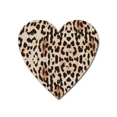 Leopard Pattern Heart Magnet by Valentinaart