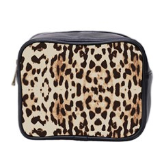 Leopard Pattern Mini Toiletries Bag 2 Side by Valentinaart