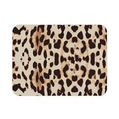 Leopard Pattern Double Sided Flano Blanket (mini)  by Valentinaart