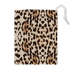 Leopard Pattern Drawstring Pouches (extra Large) by Valentinaart