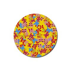 Butterflies  Rubber Coaster (round)  by Valentinaart