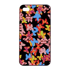 Butterflies Apple Iphone 4/4s Seamless Case (black) by Valentinaart