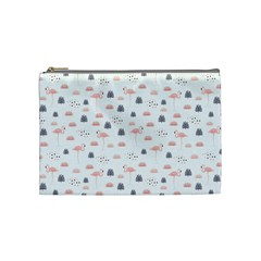Cute Flamingos And  Leaves Pattern Cosmetic Bag (medium)  by TastefulDesigns