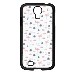 Cute Flamingos And  Leaves Pattern Samsung Galaxy S4 I9500/ I9505 Case (black) by TastefulDesigns