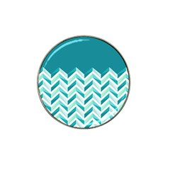 Zigzag Pattern In Blue Tones Hat Clip Ball Marker (10 Pack) by TastefulDesigns
