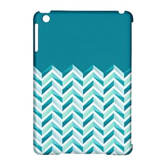 Zigzag Pattern In Blue Tones Apple Ipad Mini Hardshell Case (compatible With Smart Cover) by TastefulDesigns