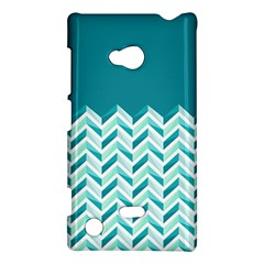 Zigzag Pattern In Blue Tones Nokia Lumia 720 by TastefulDesigns