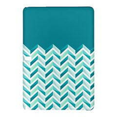 Zigzag Pattern In Blue Tones Samsung Galaxy Tab Pro 12 2 Hardshell Case by TastefulDesigns