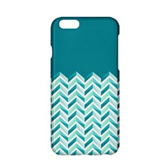 Zigzag Pattern In Blue Tones Apple Iphone 6/6s Hardshell Case by TastefulDesigns