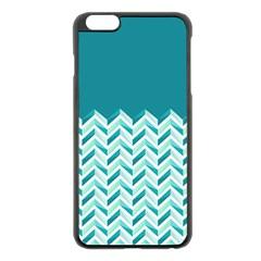Zigzag Pattern In Blue Tones Apple Iphone 6 Plus/6s Plus Black Enamel Case by TastefulDesigns