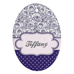 Pattern Purple 2 Ornament (oval) by makeunique