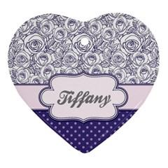 Pattern Purple 2 Ornament (heart) by makeunique