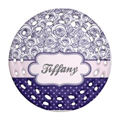 Pattern Purple 2 Ornament (round Filigree) by makeunique