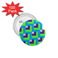 Geometric 3d Mosaic Bold Vibrant 1 75  Buttons (100 Pack)  by Amaryn4rt