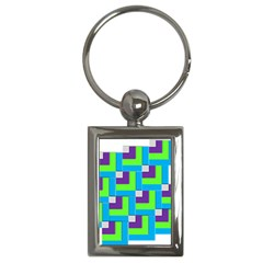 Geometric 3d Mosaic Bold Vibrant Key Chains (rectangle)  by Amaryn4rt