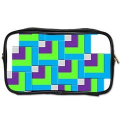 Geometric 3d Mosaic Bold Vibrant Toiletries Bags by Amaryn4rt