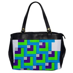 Geometric 3d Mosaic Bold Vibrant Office Handbags by Amaryn4rt